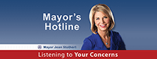 Mayor Jean Stother listening to your concerns